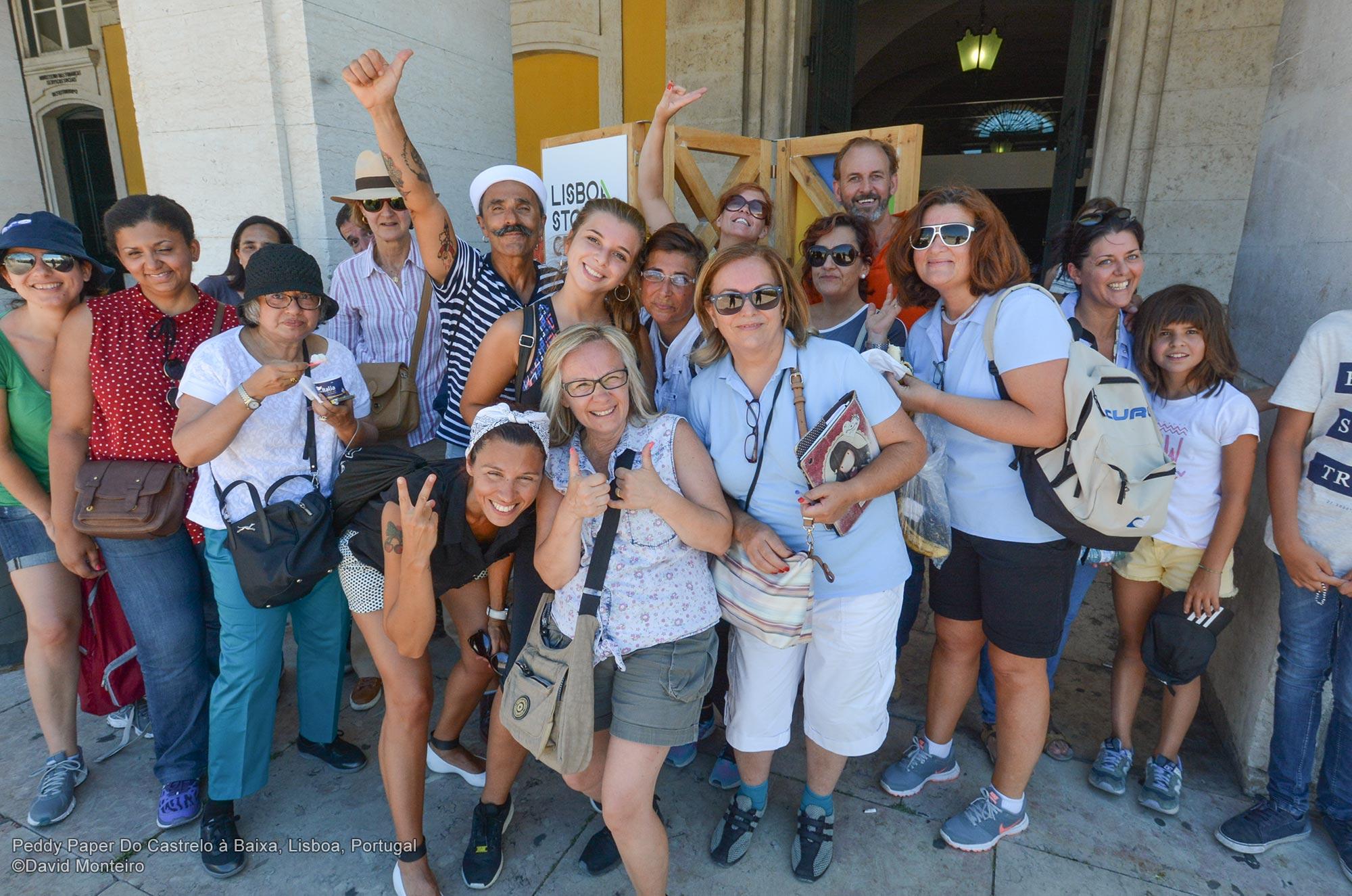 Grupo em Peddy Paper Lisboa