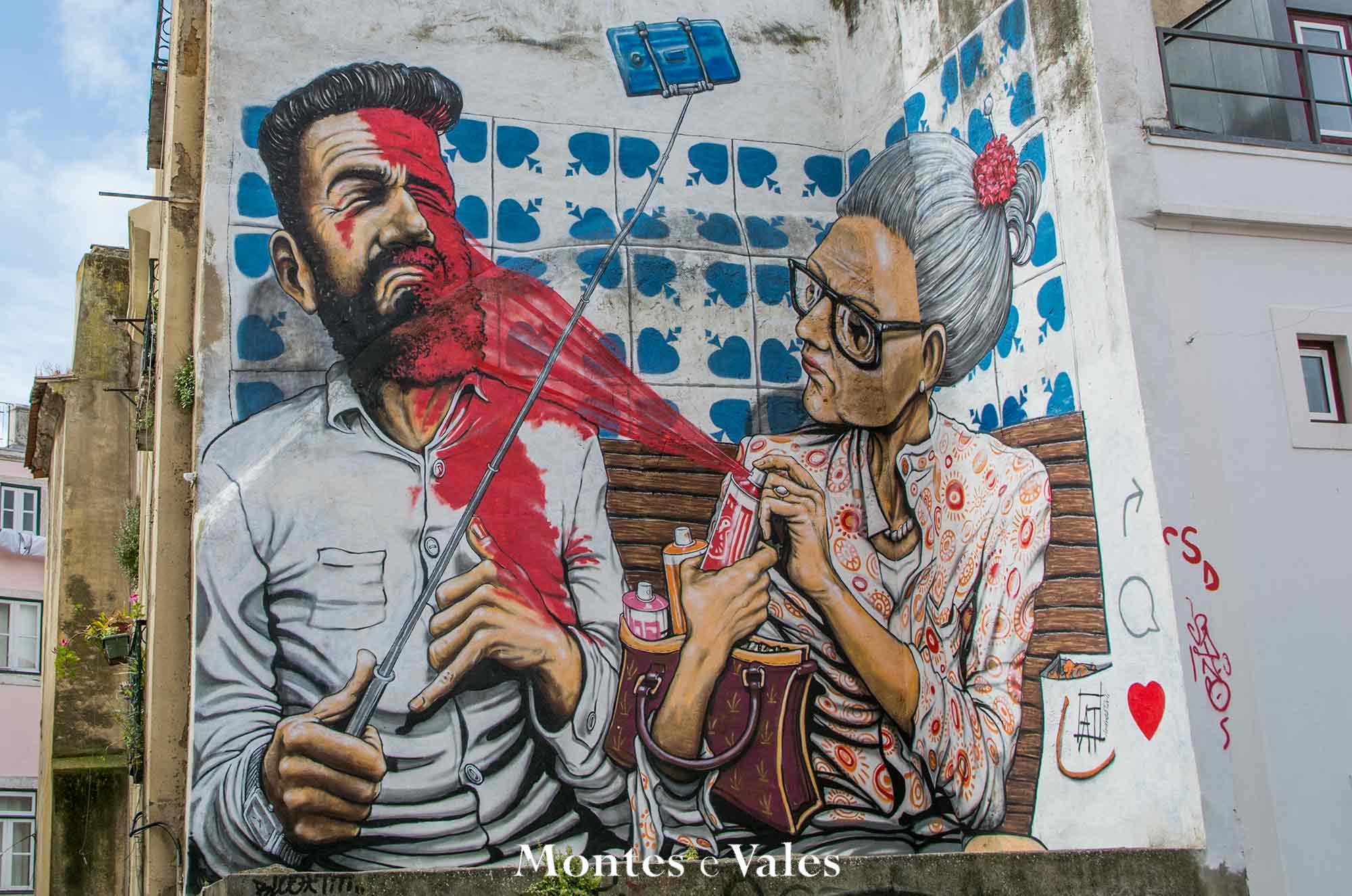 Em que bairro podemos encontrar este mural?
